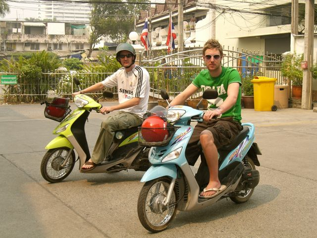 Renting a scooter abroad